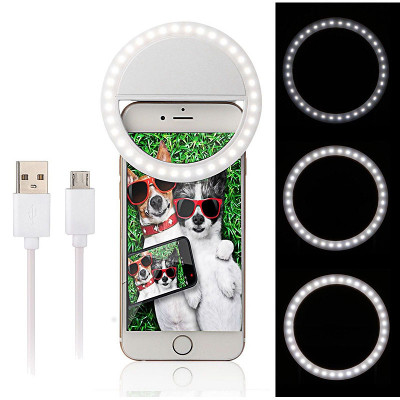 Selfie ring light oplaadbaar